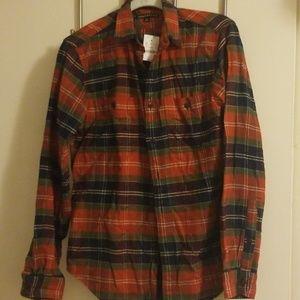 J Crew Autumn Plaid Flannel Shirt